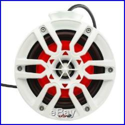 DS18 NXL-PS6W Mini 6.5 Wake Tower Marine Pod Speakers 600W White RGB LED Jetski