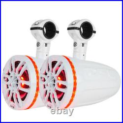 DS18 X Series HYDRO 8 2-Way Wakeboard Pod Tower Speakers with1 Compression Driver