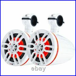 DS18 X Series HYDRO Wakeboard Pod Tower Speaker withRGB LED Light NXL-X6TP/WH