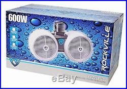 DWB65B Dual 6.5 Black 600 Watt Marine Wakeboard Tower Speaker System