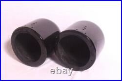 Dual 6.5 Painted Fiberglass Wakeboard Tower Speaker Enclosures Black