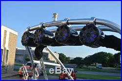 Fluid Core Viper 8 Tower Speakers Kicker 300 watt multi color LED Lighting