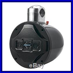 Four Way Marine Wakeboard Tower Speaker 8 1200 Watt Mid Range Audio Weatherproo