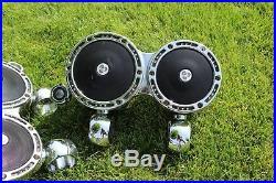 Fusion T6.5 3 way Marine Wakeboard Tower Speakers Diamond Audio Chrome