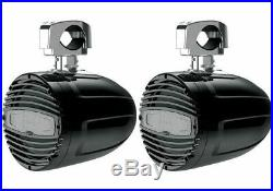 Hertz Htx8m-cl-c 8 Black Rgb Led Wakeboard Tower Speakers & Clamps Pair New