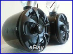 INDY Liquid Single Wakeboard Tower Speaker Black Coated (in pair)