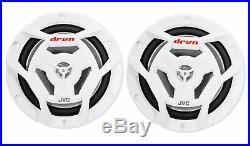JVC CS-DR6201MW Dual 6.5 300 Watt 2-Way Marine Wakeboard Tower Speakers