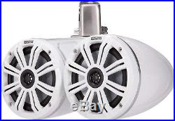 KICKER 45KMTDC65W MARINE/BOAT 6.5 WAKEBOARD TOWER SPEAKERS WithLED LIGHT WHITE