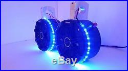 KICKER 6 1/2 Stereo Speakers BLUE LEDs Wakeboard Tower UTV Can Am Razor Rhino
