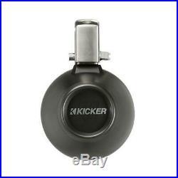 KICKER Marine Boat Wakeboarding Speakers Tower Set 6.5 inch Black