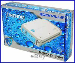 Kicker 41KM604W Dual 6.5 Marine Wakeboard Tower Speakers+Amplifier+Amp Kit