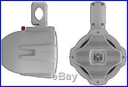 LANZAR MARINE AQWB65W 6.5 WHITE 2-WAY BOAT WAKE BOARD TOWER BAR MOUNT SPEAKER