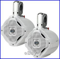 Lanzar AQAWBPR65 Dual 6.5 Bluetooth Marine Wakeboard 2-Way Tower Speaker 1000W
