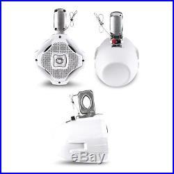 Lanzar AQWB65W 6.5 500 Watt 2 Way White Marine Wake Board Tower Speaker