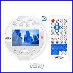Lanzar Bluetooth Marine Media Receiver, Wakeboard 300 Watt Tower Speakers White