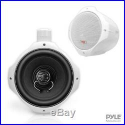 MARINE SPEAKER'Dual Wake-Board Tower Speaker' by Pyle-Hydra'6.5-Inch 200 Watt