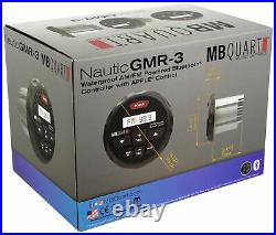 MB Quart GMR-3 Marine Bluetooth Receiver+(2) 6.5 White Wakeboard Tower Speakers