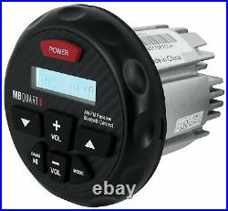 MB Quart GMR-3 Marine Gauge Bluetooth Receiver+(2) 6.5 Wakeboard Tower Speakers