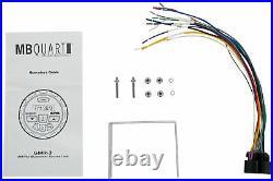 MB Quart GMR-3 Marine Gauge Bluetooth Receiver+(2) 8 Wakeboard Tower Speakers