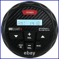 MB Quart GMR-3 Marine Gauge Bluetooth Receiver+(4) 8 Wakeboard Tower Speakers