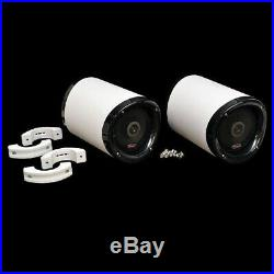 Malibu 6169315 Titan Black White Alpha 1 Boat Wakeboard Tower Speakers Pair