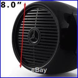 Marine Tower Speakers Wakeboard Water Resistant Sound pyle Pro Dual audio black