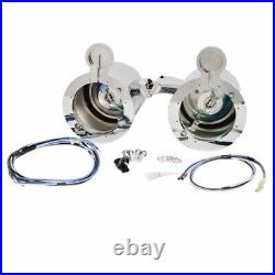 Mastercraft Chrome Plated Boat Wakeboard Tower Speaker Housing With Light (Pair)
