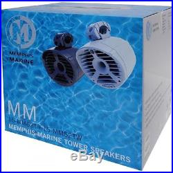 NEW Memphis 200W 6.5 Marine ATV Boat Tower Tube Speaker 6 1/2 Wakeboard