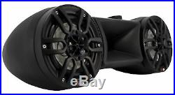 NXL-62TD Black 6.5 RGB Wakeboard Tower + 2300W Class D 1 Ch Marine Amplifier