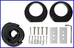 Pair 6.5 Black Aluminum Wakeboard Tower Speaker Pods with Polk DB Speakers