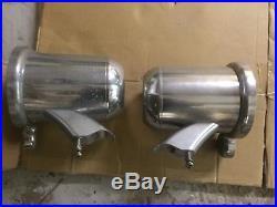 Pair 6.5 Polished Aluminum Wakeboard Tower Speaker Enclosures Cans tweeter open