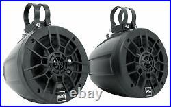 Pair Boss MPWT60 6.5 600w UTV ATV Marine Wakeboard Tower Speakers+Hifonics Amp