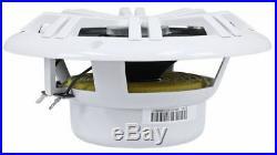 Pair Dual Kicker 41KM604W 6.5 300 Watt Marine Boat Wakeboard Tower Speakers
