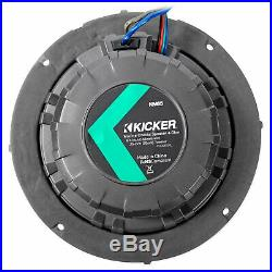 Pair Dual Kicker 43KM654LCW 6.5 780w Marine Wakeboard Tower Speakers withLED's