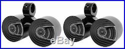 Pair Dual Polk Audio 6.5 1200 Watt Marine Boat Wakeboard Tower Speakers