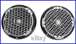 Pair Dual Rockford Fosgate PM282B 8 800w Marine Wakeboard Luxury Tower Speakers