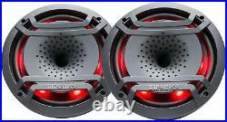 Pair Hifonics TPS-CX80 8 300w Marine Wakeboard Tower Speakers+Amplifier+Amp Kit