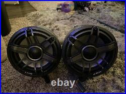 Pair JL Audio M6-880ETXv3 8.8 In 4 Ohm 125 W Wakeboard Tower With LED Light Caps