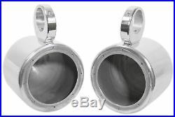Pair KICKER 45KM654 6.5 390 Watt Silver Marine Wakeboard Tower Boat Speakers