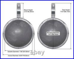Pair KICKER 45KM84L 8 600 Watt Marine Boat Wakeboard Tower Speakers withLED&