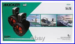 Pair KICKER 45KMTC65 6.5 390w Marine Wakeboard Tower Speakers withLED's KMTC65