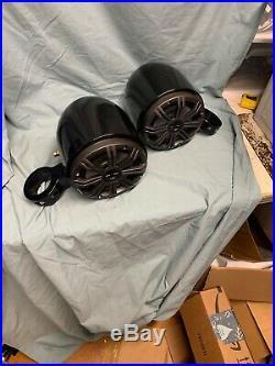 Pair KICKER 6.5 Black Marine Wakeboard Tower Boat Speakers (Ac 284)