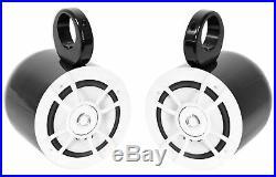 Pair Kenwood KFC-1633MRW 200 Watt 6.5 Marine Boat Wakeboard Tower Speakers