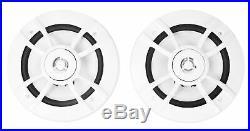 Pair Kenwood KFC-1633MRW 200w 6.5 Marine Boat Chrome Wakeboard Tower Speakers