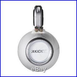 Pair Kicker 12KMTESW Wakeboard Tower Enclosure For 6 6.5 Inch Marine Speaker