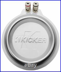 Pair Kicker 43KMTES8W White Marine 8 Speaker Wakeboard Tower Enclosures KMTES8