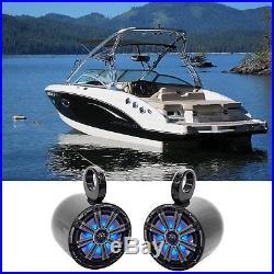 Pair Kicker 45Km84L 8 600 Watt Marine Boat Wakeboard Tower Speakers WithLed'S Km8