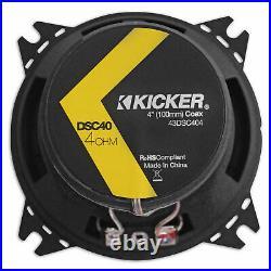 Pair Kicker DSC40 4 120 Watt Mini Wakeboard Tower Speakers For ATV/UTVCART