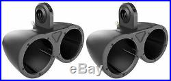 Pair Kicker KMTED Marine Wakeboard Tower Enclosures for Dual 6 or 6.5 Speakers