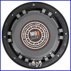 Pair MB Quart NH1-120B 8 360w Marine Wakeboard Tower Speakers+Amplifier+Amp Kit